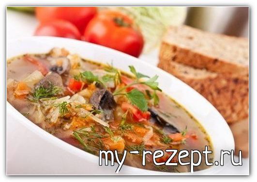 Овощная солянка тушеная с помидорами и луком - рецепт