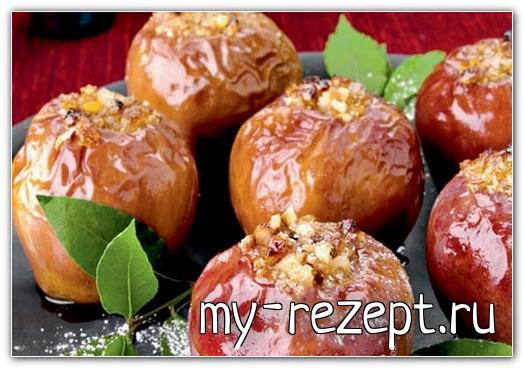 Запеченные яблоки с мёдом и корицей