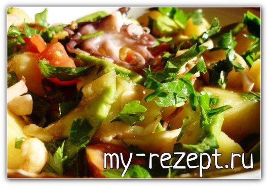 Картофельный салат по американски - рецепт