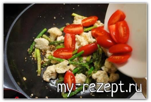 Готовим альденте с обжаркой овощей