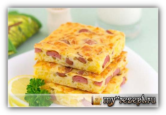 Пирог с сыром и сосисками рецепт