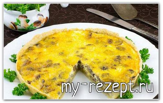 Пирог с грибами и сыром рецепт с фото