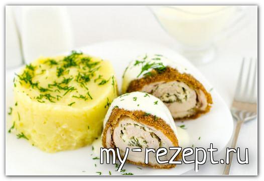 Куриные рулетики с сыром - рецепт