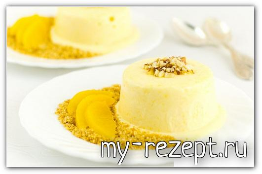 Персиковое мороженое - рецепт