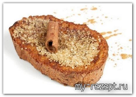 Чёрный хлеб с маслом и сахаром