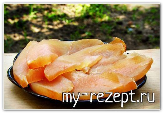 Балык из куриного филе по-домашнему - рецепт