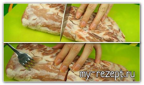 Мясо, запечённое в мультиварке