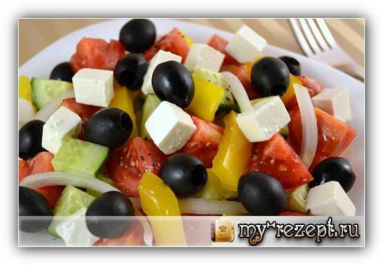 Греческий салат рецепт с фото пошагово!